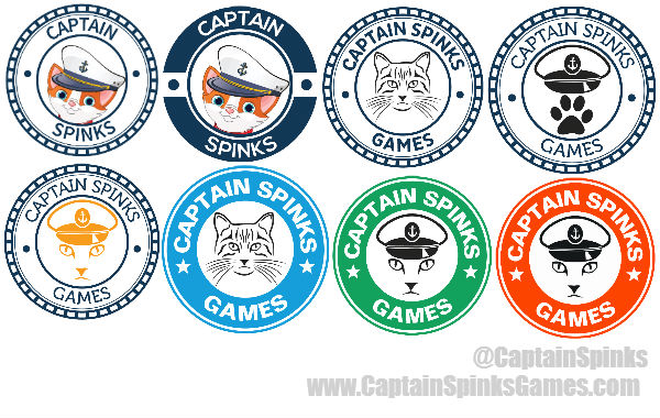 Captain Spinks Games Logo Evolution