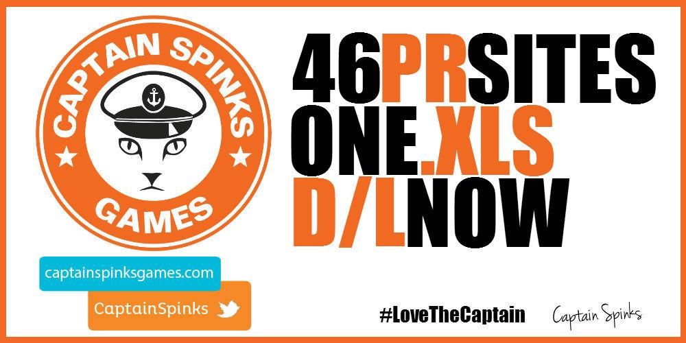 Captain Spinks Games PR List Download